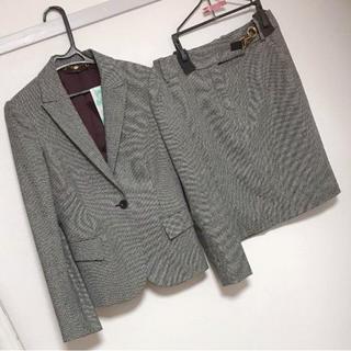 グッチ(Gucci)の【美品】GUCCI グッチ 36サイズ 秋冬スーツ スカート 千鳥格子(スーツ)