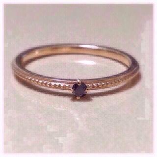 アガット(agete)のageteブラックダイヤリング(リング(指輪))