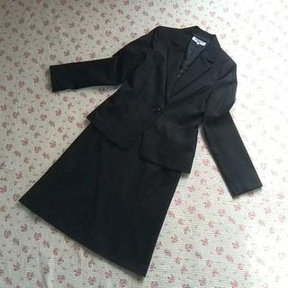 ナチュラルビューティーベーシック(NATURAL BEAUTY BASIC)の★極美★ ナチュラルビューティー スカートスーツ L W70 黒 OL ビジネス(スーツ)