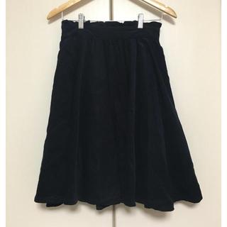 オリーブデオリーブ(OLIVEdesOLIVE)のOLIVE des OLIVEネイビー厚手スカート(ひざ丈スカート)