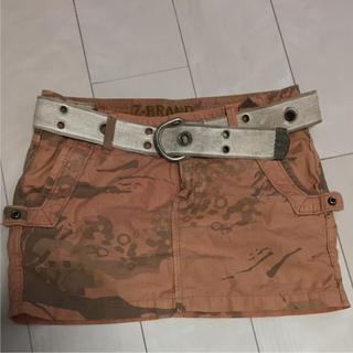 ジーブランド(Z-BRAND)のZ-BRAND ベルト付デニムスカート(ミニスカート)