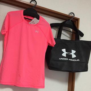 アンダーアーマー(UNDER ARMOUR)の新品 2点セット アンダーアーマー 福袋 Tシャツ ヒートギア レディース(トレーニング用品)