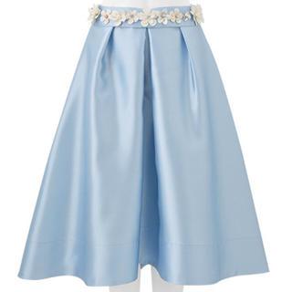 チェスティ(Chesty)の新品未使用chesty♡ブルー1 フラワーベルトスカート (ひざ丈スカート)