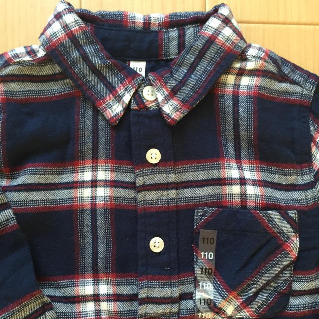 MUJI (無印良品)(ムジルシリョウヒン)の新品・無印♡オーガニックコットンフランネルシャツ キッズ/ベビー/マタニティのキッズ服 男の子用(90cm~)(ブラウス)の商品写真