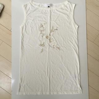 ルシェルブルー(LE CIEL BLEU)のルシェルブルー  ノースリーブTシャツ(Tシャツ(半袖/袖なし))