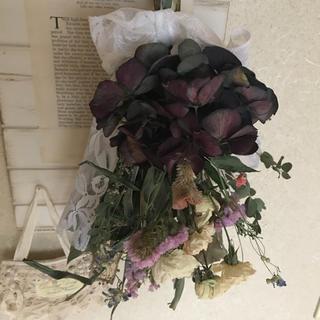 紫陽花と薔薇の素敵なスワッグステラルーさま専用(ドライフラワー)