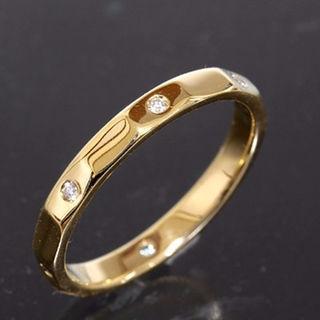 ポンテヴェキオ(PonteVecchio)のポンテ ヴェキオ ダイヤモンド リング 11号 K18YG 新品仕上済 PV(リング(指輪))