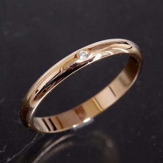 カルティエ(Cartier)のカルティエ シンプル ダイヤ リング size53 K18PG 新品仕上済 箱付(リング(指輪))