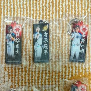 ホッカイドウニホンハムファイターズ(北海道日本ハムファイターズ)の日本ハムファイターズ 選手キーホルダー 5個セット A4 大谷選手 一枚(記念品/関連グッズ)