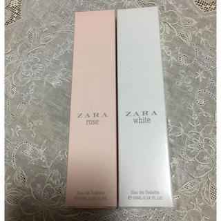 ザラ(ZARA)のZARA ロールオンオードトワレ2本セット ホワイト,ローズ(香水(女性用))
