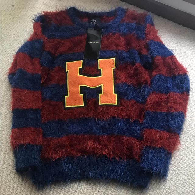 HALFMAN(ハーフマン)のHALFMAN ハーフマン モヘアニット 新品未使用 レディースのトップス(ニット/セーター)の商品写真