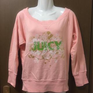 ジューシークチュール(Juicy Couture)のジューシークチュール サーモンピンクの可愛いトレーナー(トレーナー/スウェット)