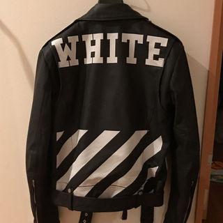 オフホワイト(OFF-WHITE)の【激レア】off  white レザー(レザージャケット)