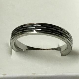 ステンレス製 ファッションリング 15号/商品管理番号ST24-18(リング(指輪))