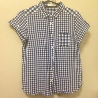 ジーユー(GU)のg.u. ギンガムチェックシャツ(シャツ/ブラウス(半袖/袖なし))