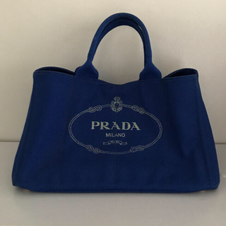 97ec24fb9e8a プラダ(PRADA)のPRADA プラダ カナパ 大きいサイズ ブルー (トートバッグ)