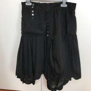 ツモリチサト(TSUMORI CHISATO)のツモリチサト★美品★黒スカート(ひざ丈スカート)