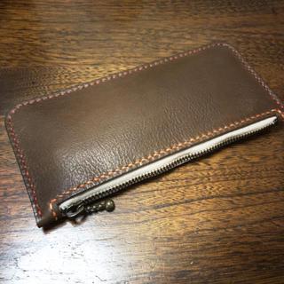 牛革シンプルな手縫いのペンケース(その他)