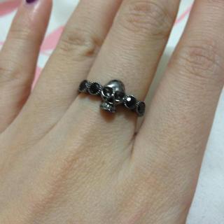 スカル×ブラックスピネルリング13号(リング(指輪))