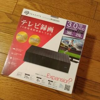 エレコム(ELECOM)の【新品未開封】SGD-NZ030UBK 3TB HDD ELECOM (PC周辺機器)