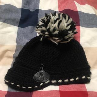 ヴィヴィアンウエストウッド(Vivienne Westwood)のヴィヴィアンウエストウッド ニット 黒(ニット帽/ビーニー)