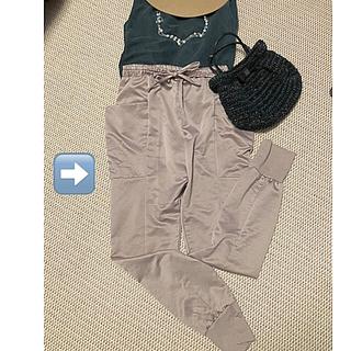 オリゾンティー(ORIZZONTI)の美品♡ actuel 光沢パンツ(カジュアルパンツ)