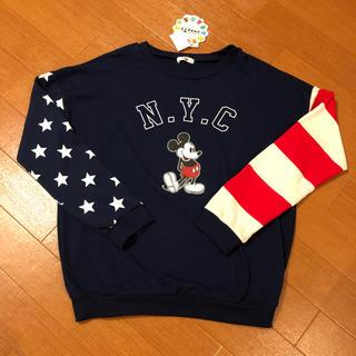 シマムラ(しまむら)のミッキー 星条旗(トレーナー/スウェット)