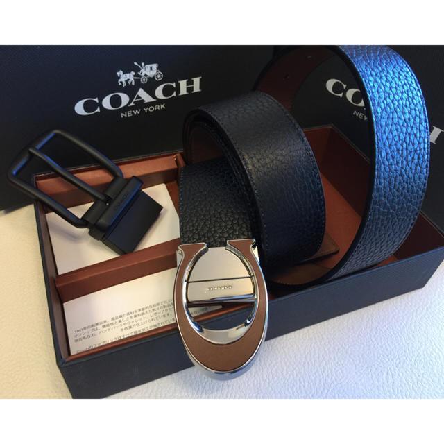 0c145f139a7e COACH - 【COACH】新品•正規品ワイド ミックスハーネス リバーシブル ...