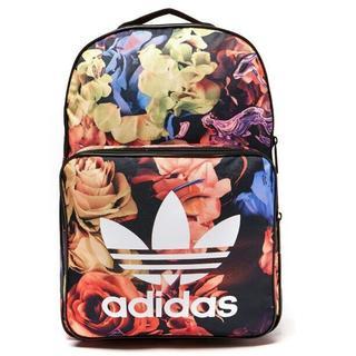アディダス(adidas)の新品 花柄 adidas Originals アディダス ロゴ リュック 黒 (リュック/バックパック)