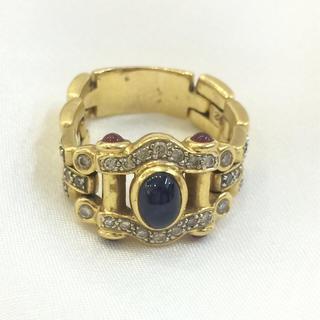 K18サファイア&ダイヤモンド&ルビーリング❤️18金 刻印あり❤️(リング(指輪))