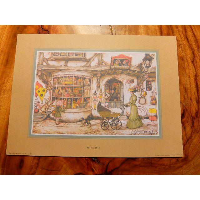 3アントンペック トイショップ シャドーボックス用プリント6枚+カット指示書付き エンタメ/ホビーの美術品/アンティーク(絵画/タペストリー)の商品写真