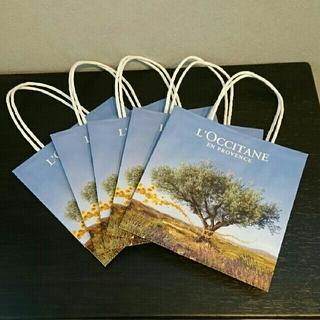 ロクシタン(L'OCCITANE)のショッパー5枚セット(紙袋)(新品・未使用)(ショップ袋)