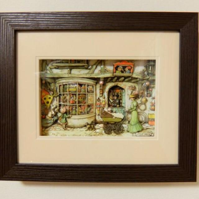 7アントンペック トイショップ シャドーボックス用プリント6枚+カット指示書付き エンタメ/ホビーの美術品/アンティーク(絵画/タペストリー)の商品写真