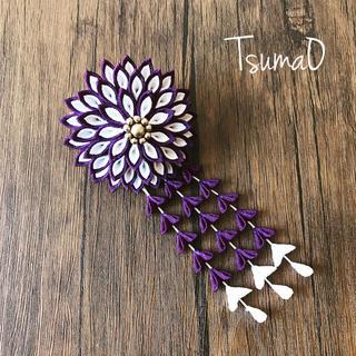 つまみ細工 菊の髪飾り(ヘアアクセサリー)