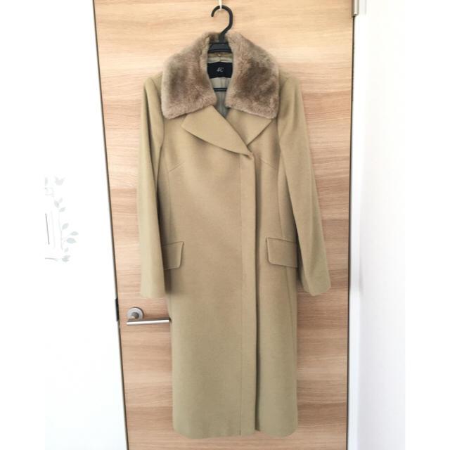 4℃(ヨンドシー)の【新品・未使用】4℃ファー付きコート レディースのジャケット/アウター(ロングコート)の商品写真