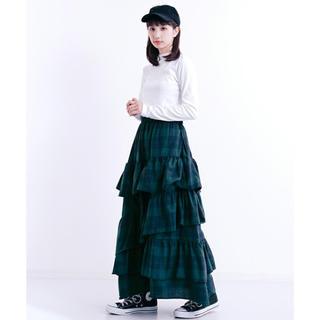 89a7b95d0d3f8b メルロー(merlot)のmerlot メルロー フリルスカート☆ ネーネット クリスプ ニコアンド(ロングスカート