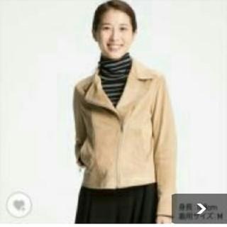 ユニクロ(UNIQLO)のnanami様☆ ユニクロ  スエードタッチライダースダブルジャケット  XL(ライダースジャケット)