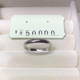 . pt900  新品 18号 男女兼用  結婚   お揃いリングにも(リング(指輪))