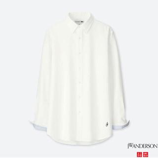 ユニクロ(UNIQLO)のユニクロ×JW アンダーソン オックスフォードシャツ S/オフホワイト 新品!(シャツ)