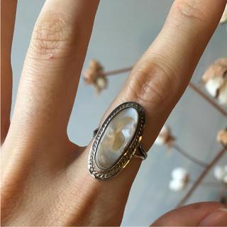 vintage silver pearl ring(リング(指輪))