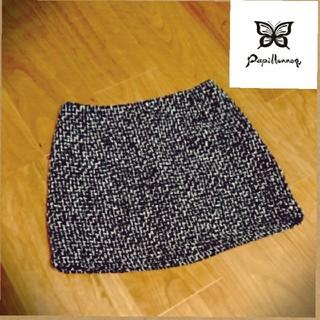 パピヨネ(PAPILLONNER)のPapillonner/パピオネ◆ツイードミニスカート(ミニスカート)