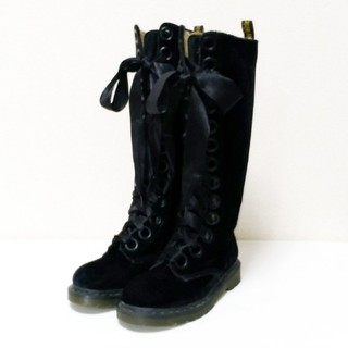 ドクターマーチン(Dr.Martens)の【ゆき。様専用】ドクターマーチン ロングブーツ 24.5 ブラック 送料無料(ブーツ)