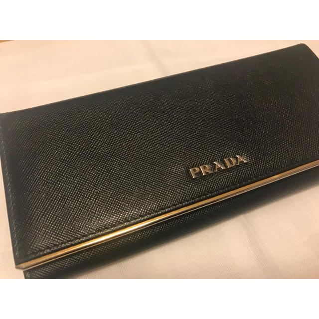 new arrival 98772 46526 【今月中セール】PRADA 財布 黒 本革 ブランド品 本物 | フリマアプリ ラクマ