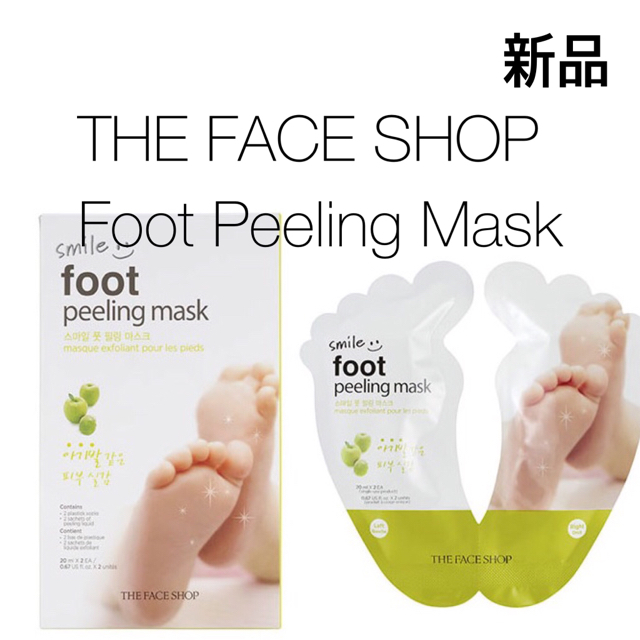 THE FACE SHOP(ザフェイスショップ)の【新品】フェイスショップ スマイルフットピーリングマスク コスメ/美容のボディケア(フットケア)の商品写真
