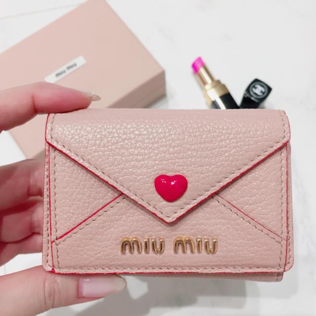 official photos 419ff 4e92c miu miu レター 型 ミニ財布♡ | フリマアプリ ラクマ