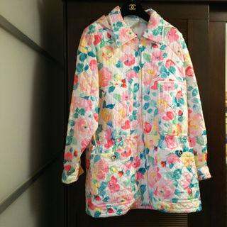 シャネル(CHANEL)のお値下 新品❗️ ヴィンテージ シャネル パーカー ブルゾン ジャケット花柄38(その他)