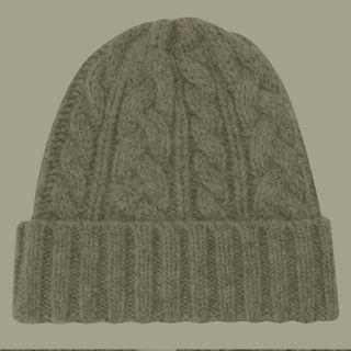 ムジルシリョウヒン(MUJI (無印良品))の無印良品 ケーブル柄ニットワッチ 定価2980円 ニット帽(その他)