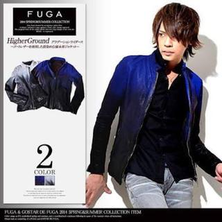 フーガ(FUGA)のFUGA グラデーションライダース レザージャケット(ライダースジャケット)