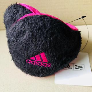 アディダス(adidas)の値下済 新品 adidas イヤーウォーマー 耳あて 黒/ピンク (イヤーマフ)