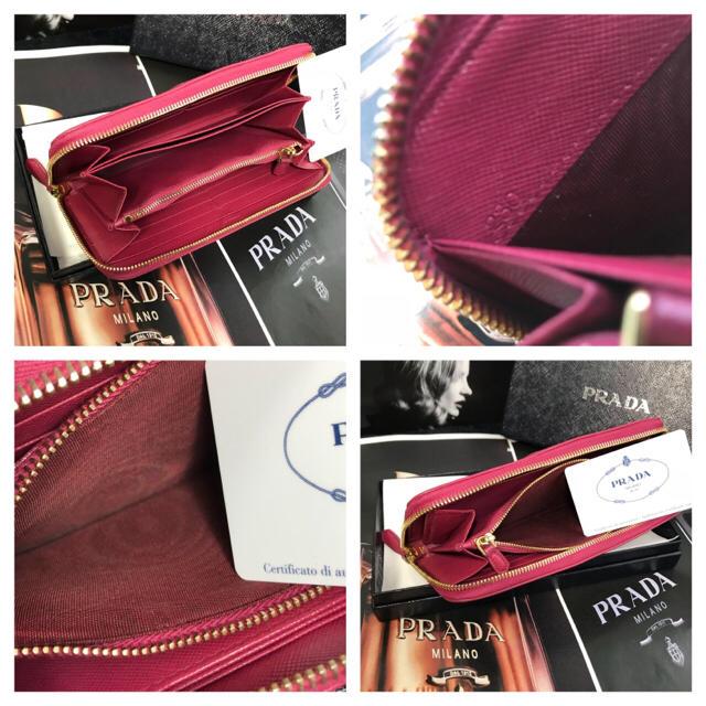 PRADA(プラダ)の【正規品】美品✨PRADA サフィアーノ ラウンドジップ『ギャラ付』 レディースのファッション小物(財布)の商品写真